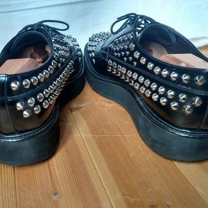 Prada Shoes - Men's PRADA Studded Platform Spazzolato Leather